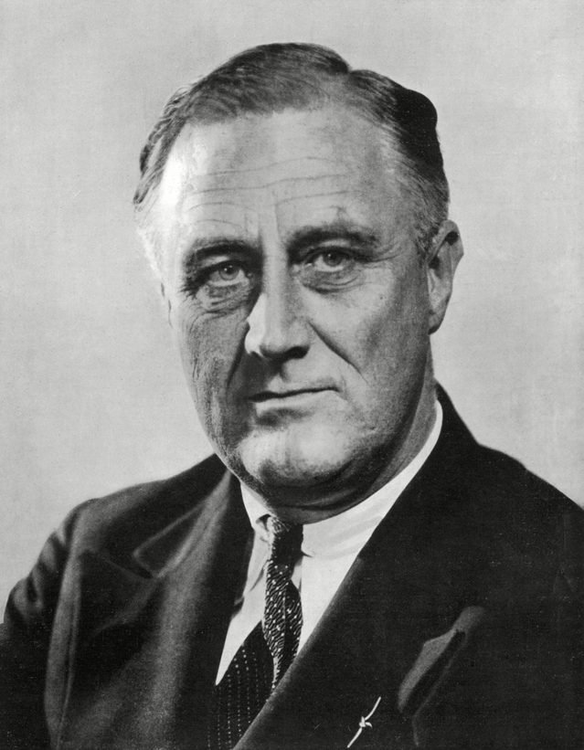 Historical Collection 18 Franklin Delano Roosevelt 32nd President of the Usa in the Year of His Election 1882 - 1945
