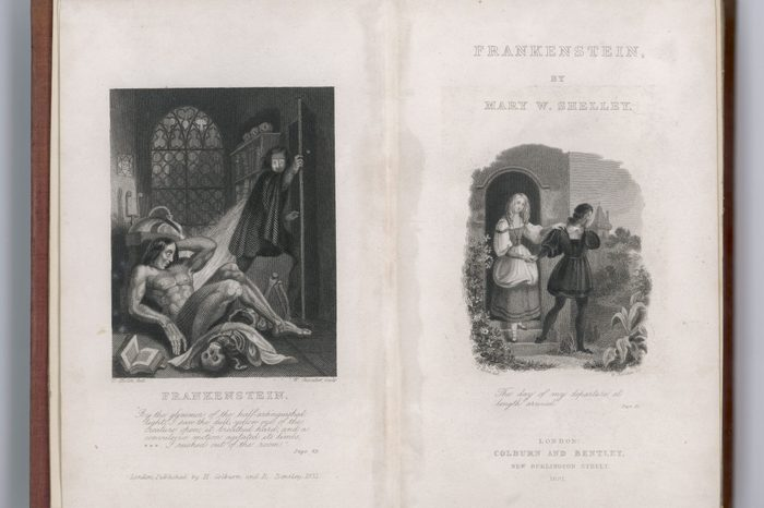 Historical Collection 32 Frankenstein Frontispiece and Title Page to Mary Shelley's Novel first published 1818