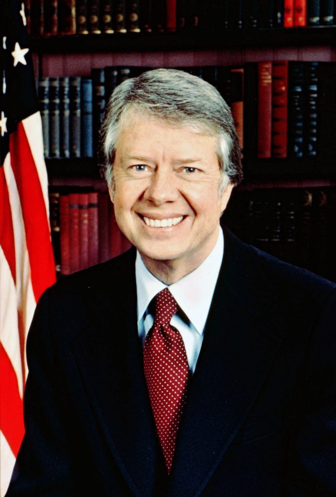History James Early 'Jimmy' Carter (b1924) 39th President of the United States of Amerce 1977-1981.