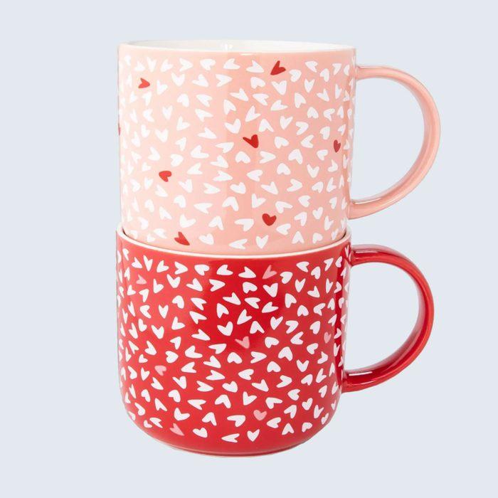 Matching love mugs: Opalhouse Stonewear Heart Mugs