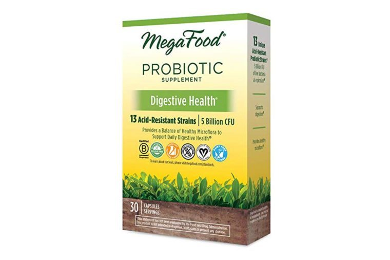 MegaFood - Digestive Health Shelf-Stable Probiotics, Dietary Supplement with 5 Billion CFU, 30 Servings (30 Capsules)