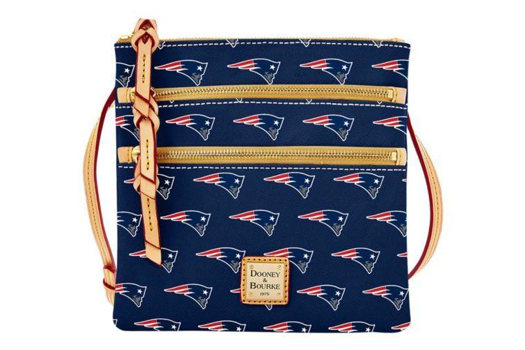 New England Patriots Dooney & Bourke Triple-Zip Crossbody Bag