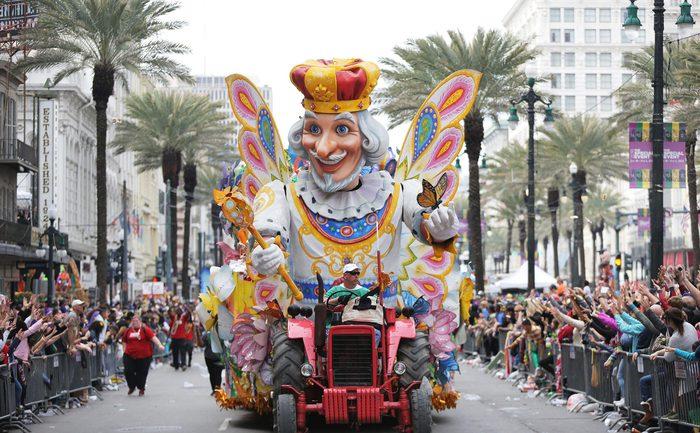 New Orleans Celebrates Mardi Gras, USA - 13 Feb 2018