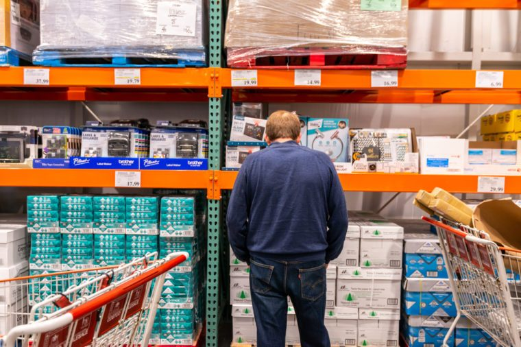 November 19, 2018 - Costco Wholesale in Roseburg, Oregon. Consumers shopping for goods before the holidays.