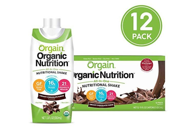 Orgain Organic Nutritional Shake, Creamy Chocolate Fudge - 16g Protein, 21 Vitamins & Minerals, Gluten Free, Soy Free, Kosher, Non-GMO, 11 Ounce, 12 Count (Packaging May Vary)