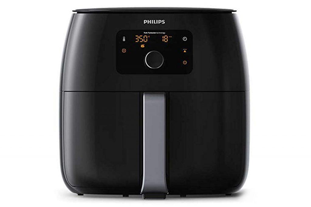 Philips Avance Collection XXL Digital Twin TurboStar Airfryer Black/Silver - HD9650/96