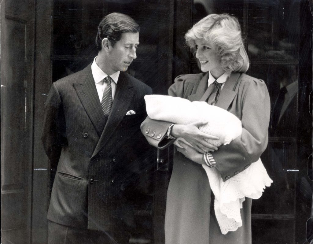 Prince Charles, Prince Harry and Princess Diana