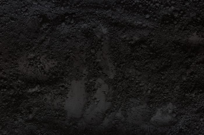 Activated charcoal powder background