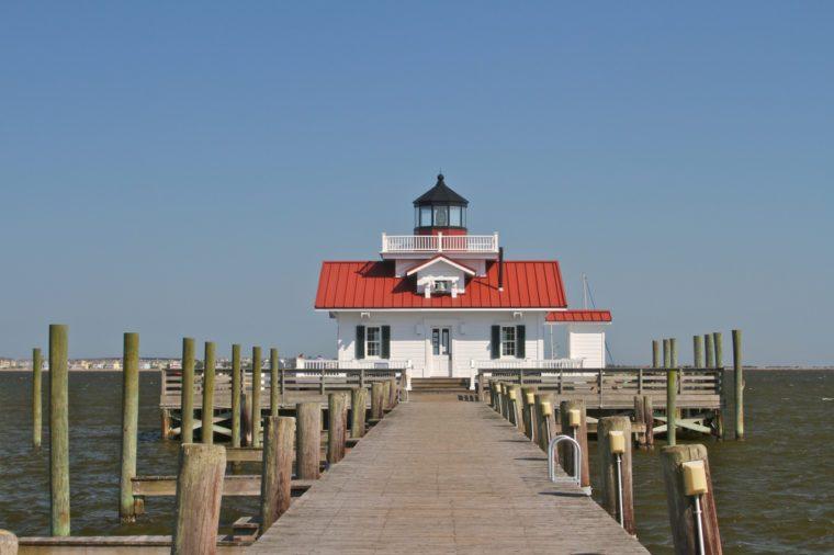 Roanoke Marshes Lighthouse, Manteo Harbor, Outer Banks, North Carolina