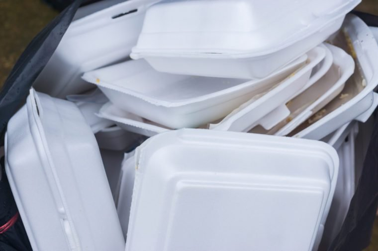 Foam food containers are hazardous to health and the environment.