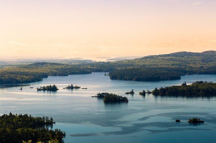 Sunset over Squam Lake New Hampshire