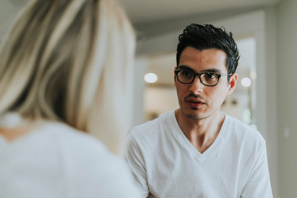 Couple having a serious conversation