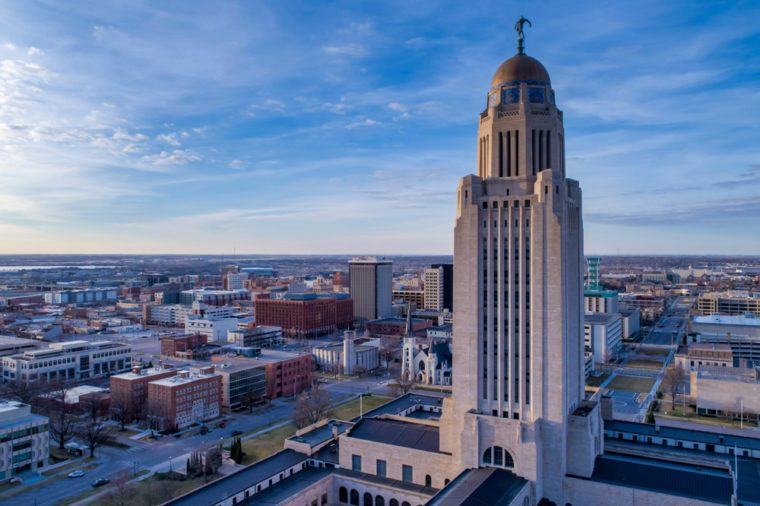 Nebraska State Capitol and Downtown Lincoln