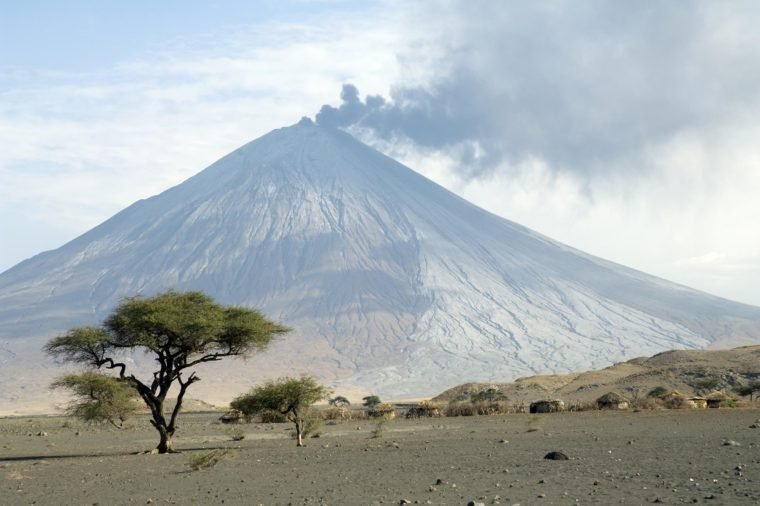 VARIOUS Eruption of Ol Doinyo Lengai volcano in 2007, northern Tanzania, Africa