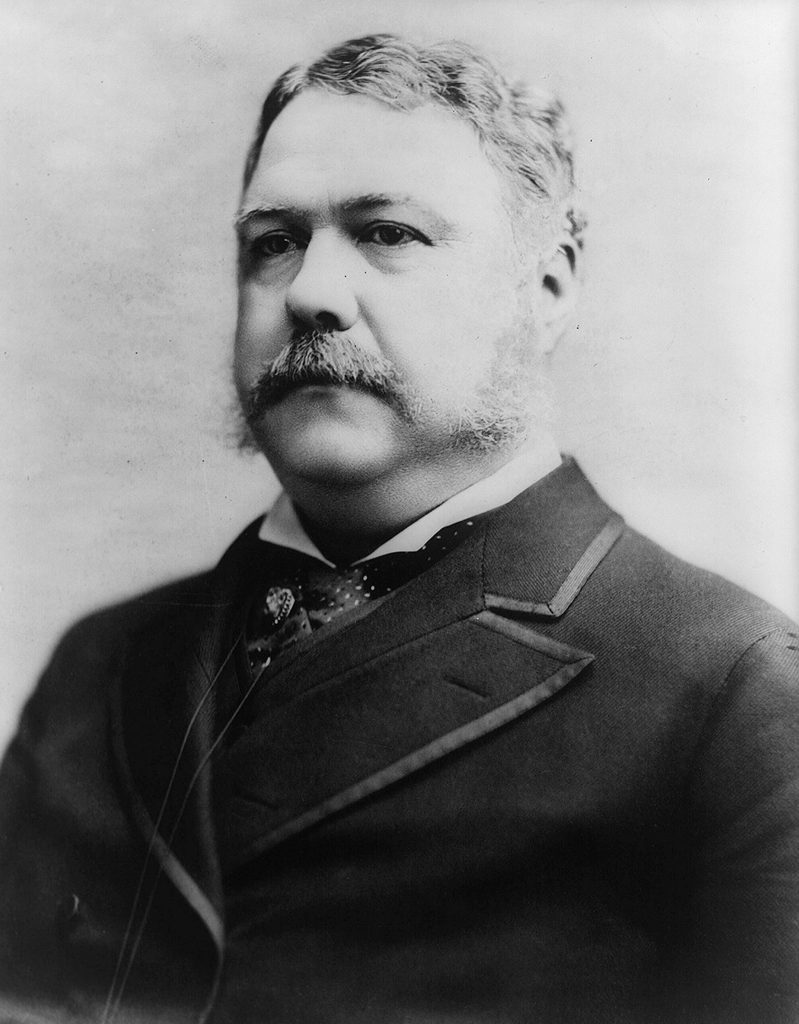 History Chester Alan Arthur (1829-1886) 21st President of the United States of America 1881-1885. Vice-President under President Garfield on whose assassination he succeeded to office. Arthur in 1882.