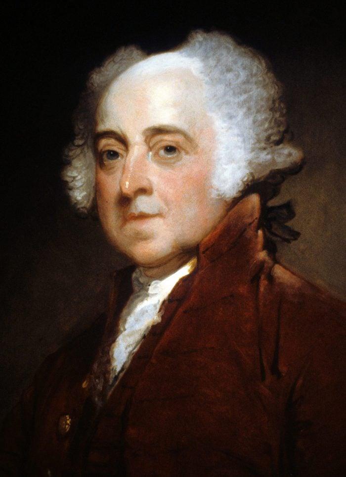 History Gilbert Stuart (1755-1828), John Adams 1821 US President