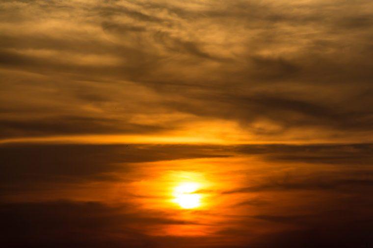 Sunset sky scape background