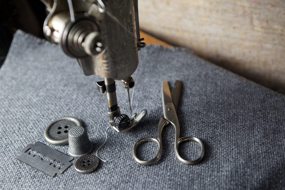 sewing machine with sewing tools