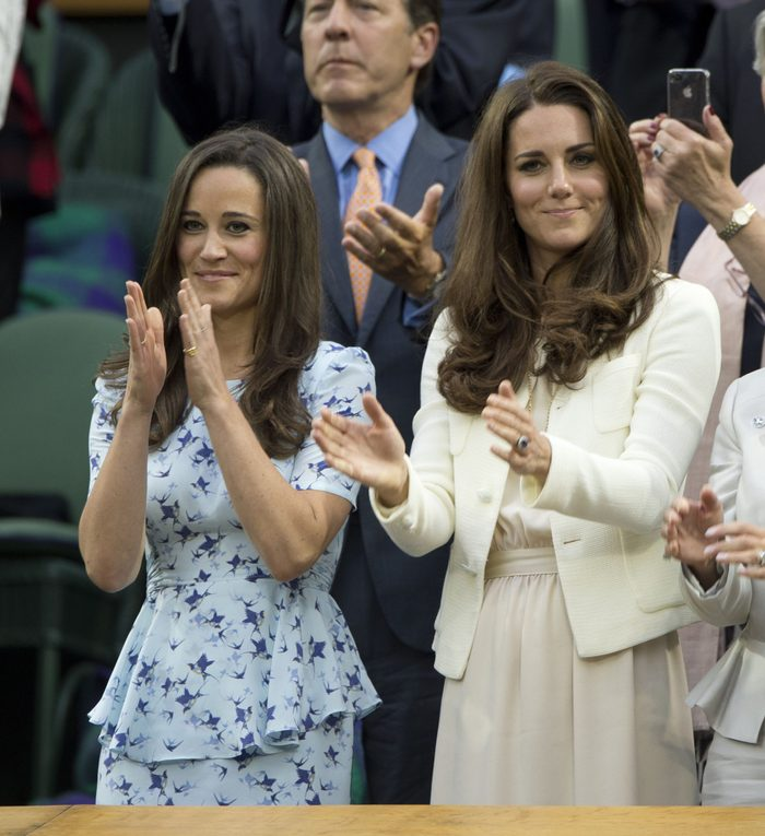 Andy Murray V Roger Federer Wimbledon Final. Hrh The Duchess Of Cambridge Kate Middleton (right) And Her Sister Pippa Middleton In Royal Box During The Trophy Prsentation. The Championships Wimbledon 2012 8th July 2012 Day Thirteen Pic: Murray Sander
