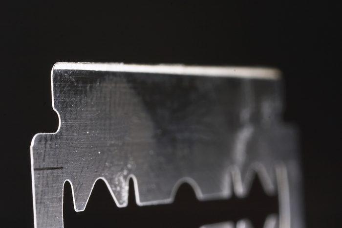Macro of a razor blade