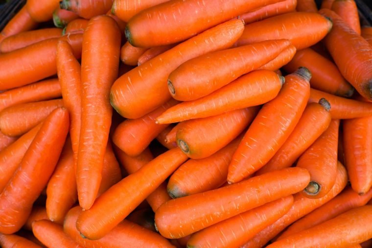 Organic carrot. Food background.