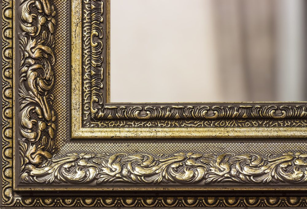 Part of the mirror frame