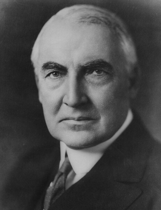 VARIOUS President Warren Harding 1920. 29th President of the United States of AmericaLibrary of Congress