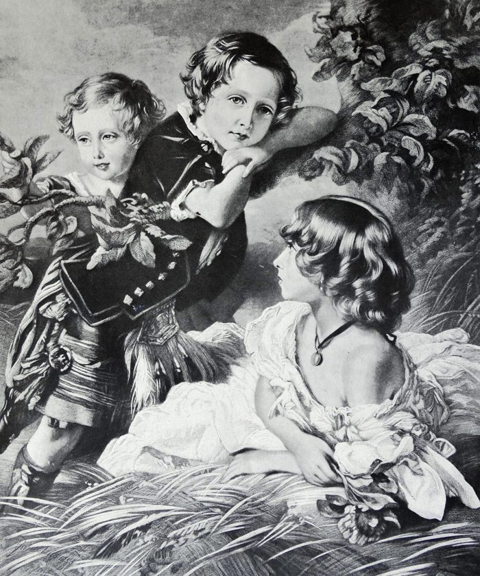 VARIOUS Princess Louise, Prince Arthur and Prince Leopold, three children of Queen Victoria and Prince Albert, 1856.