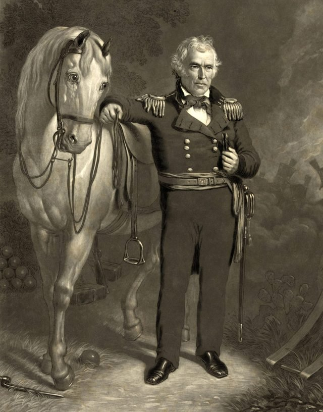 VARIOUS President Zachary Taylor. Taylor was the 12th President of the United States. Before his presidency, Taylor was a career officer in the United States Army, rising to the rank of major general.
