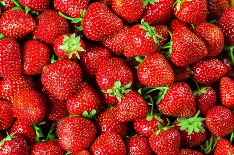 Fresh Strawberry Background.