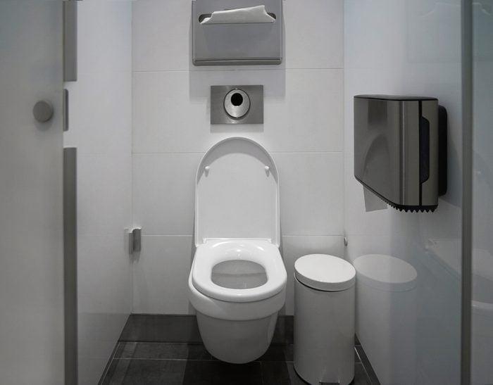 Toilet stall in public restroom