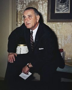 Sen. Lyndon B. Johnson Posing, Washington, USA