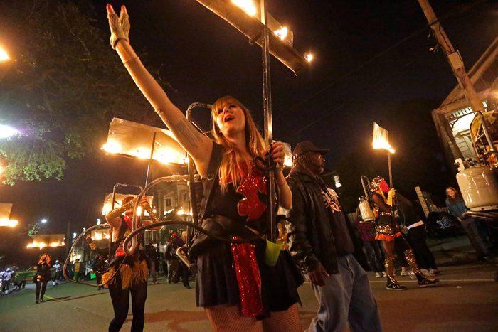 Mardi Gras Glambeaux, New Orleans, USA