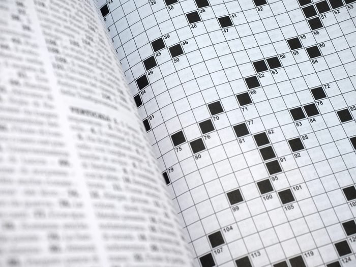 Puzzles. Crossword pages.