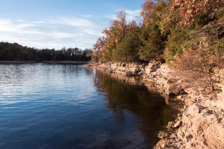 Sunny day at Fellows Lake, Springfield, Missouri