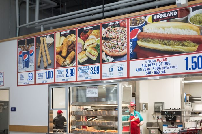 Food court of Costco, Allentown, PA, USA. October 12, 2017.