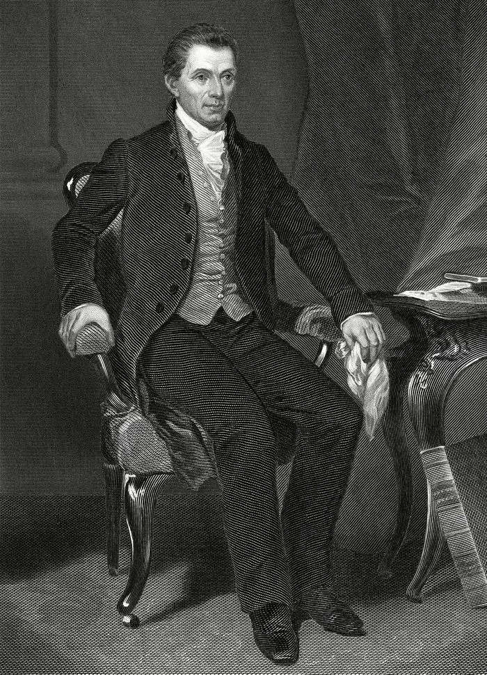 Historical Collection 2 James Monroe (1758-1831) 5th President of the United States (1817-1825) circa 1820
