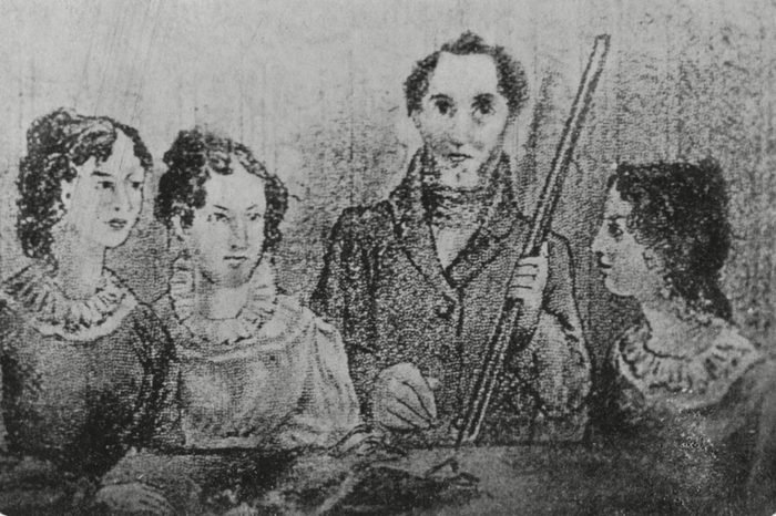 Historical Collection 24 Bronte Family A Family Portrait of Charlotte Emily Bramwell and Anne