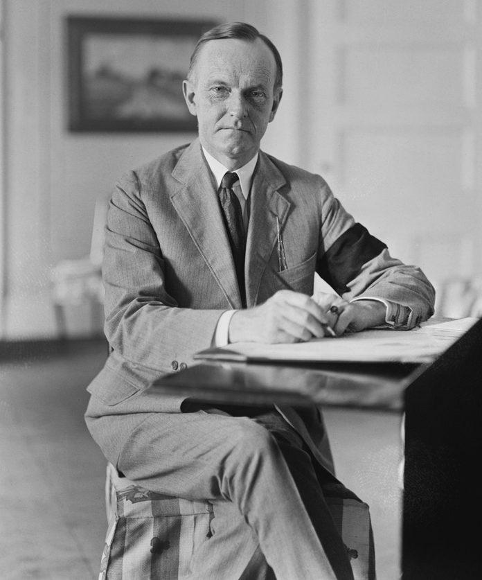 VARIOUS New U.S. President Calvin Coolidge after death of U.S. President Warren G. Harding, Washington DC, USA, National Photo Company, August 4, 1923