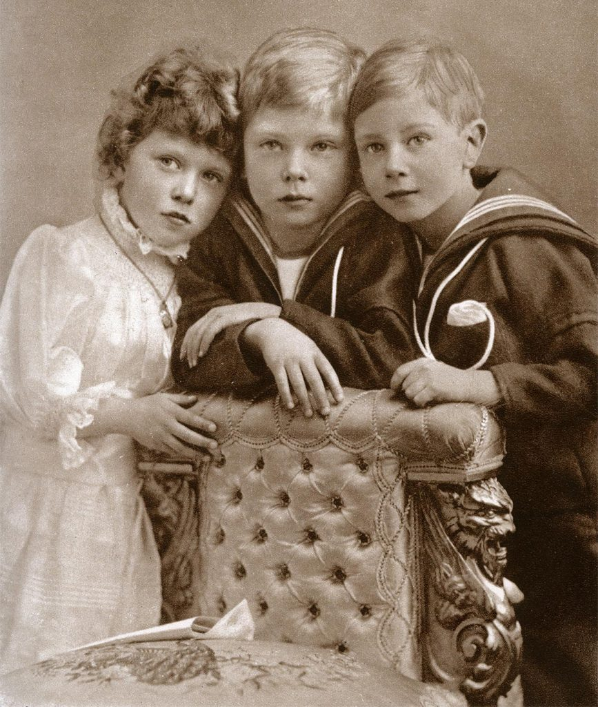 Princess Mary, Prince Edward and Prince Albert, 1902