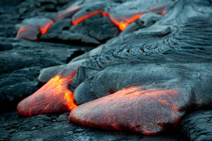 Laval flows at Hawaii Volcano National Park