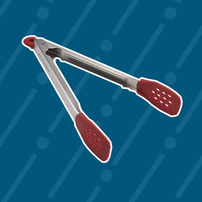 KitchenAid Silicone Tipped Stainless Steel Tongs, Red