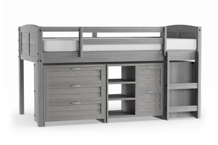 Taylor & Olive Derby Grey Wood Twin Low Loft Bed