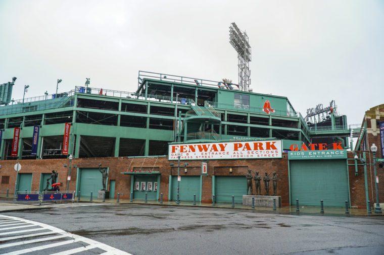 The famous Fenway Park stadium in Boston - BOSTON / MASSACHUSETTS - APRIL 3, 2017