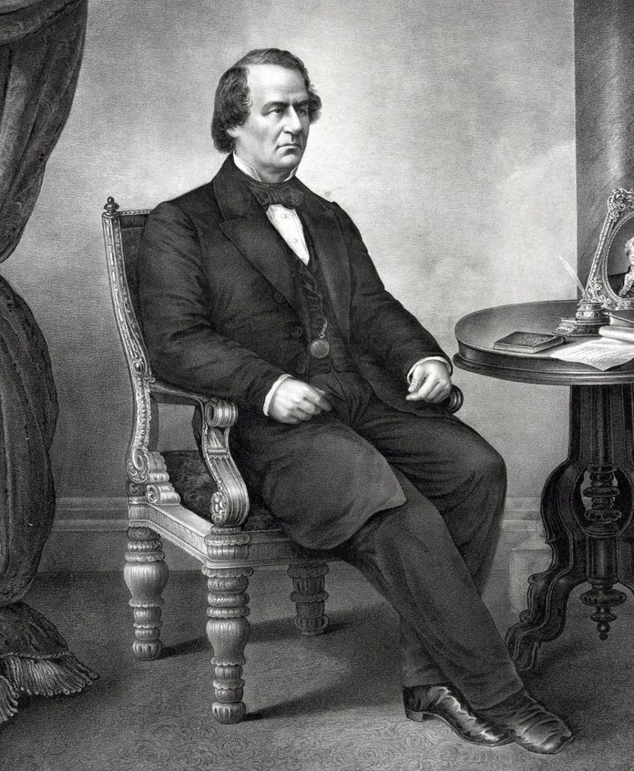VARIOUS President Andrew Johnson. Johnson was the 17th President of the United States, serving from 1865 to 1869. He became president as Abraham Lincoln's Vice President at the time of Lincoln's assassination.