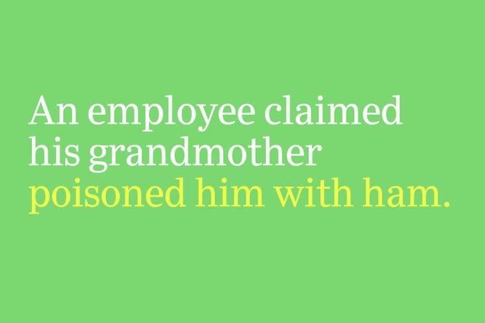 poisoned him with ham