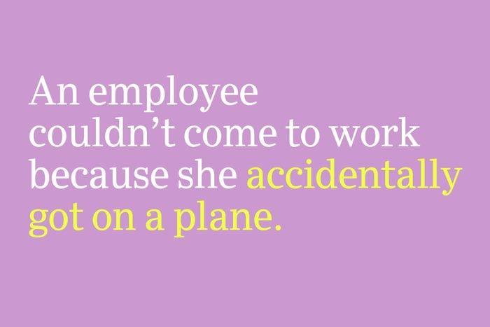 accidentally got on a plane
