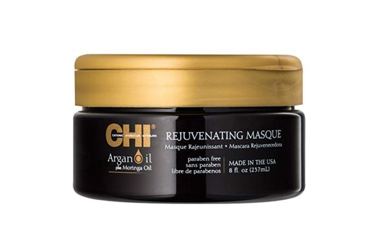 Limited Edition C.H.I. Argan Oil Plus Moringa Oil Rejuvenating Masque 8 oz -Name Brand Perfume Samples Included-
