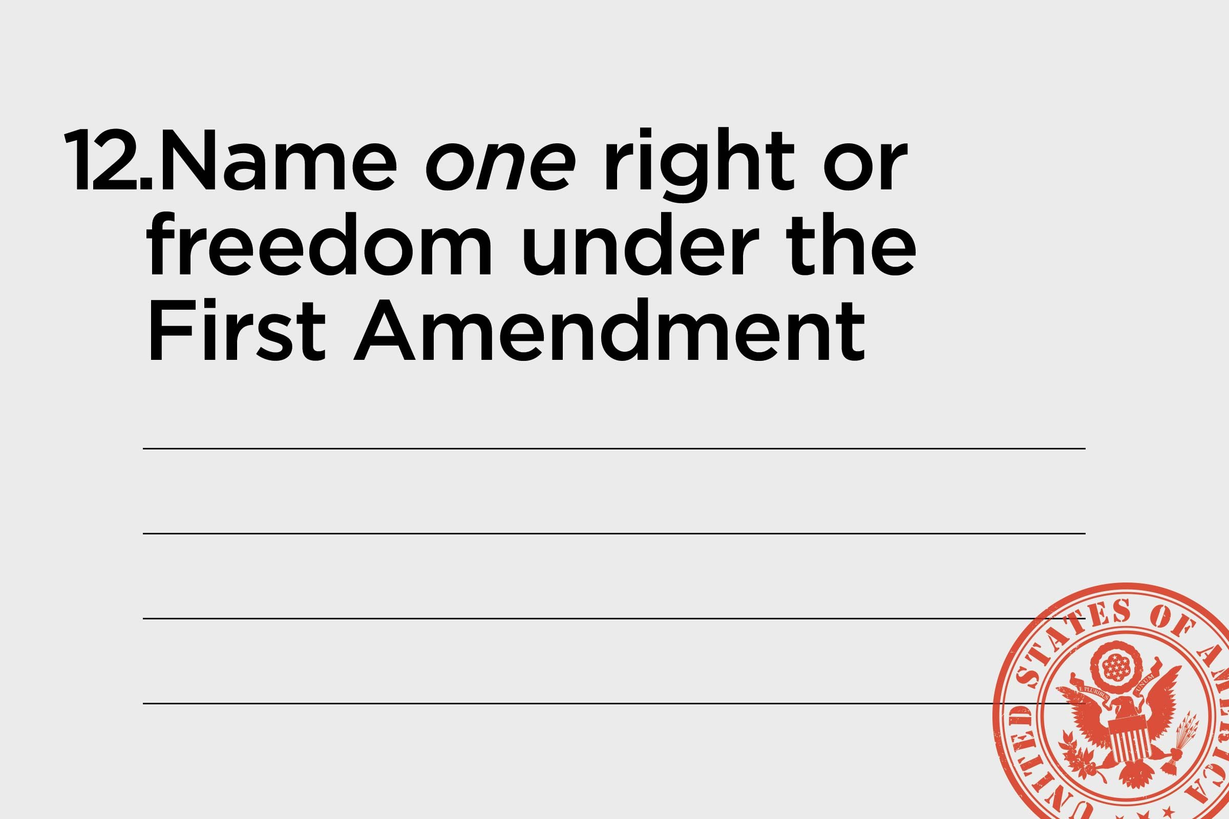 name one right or freedom under the first amendment