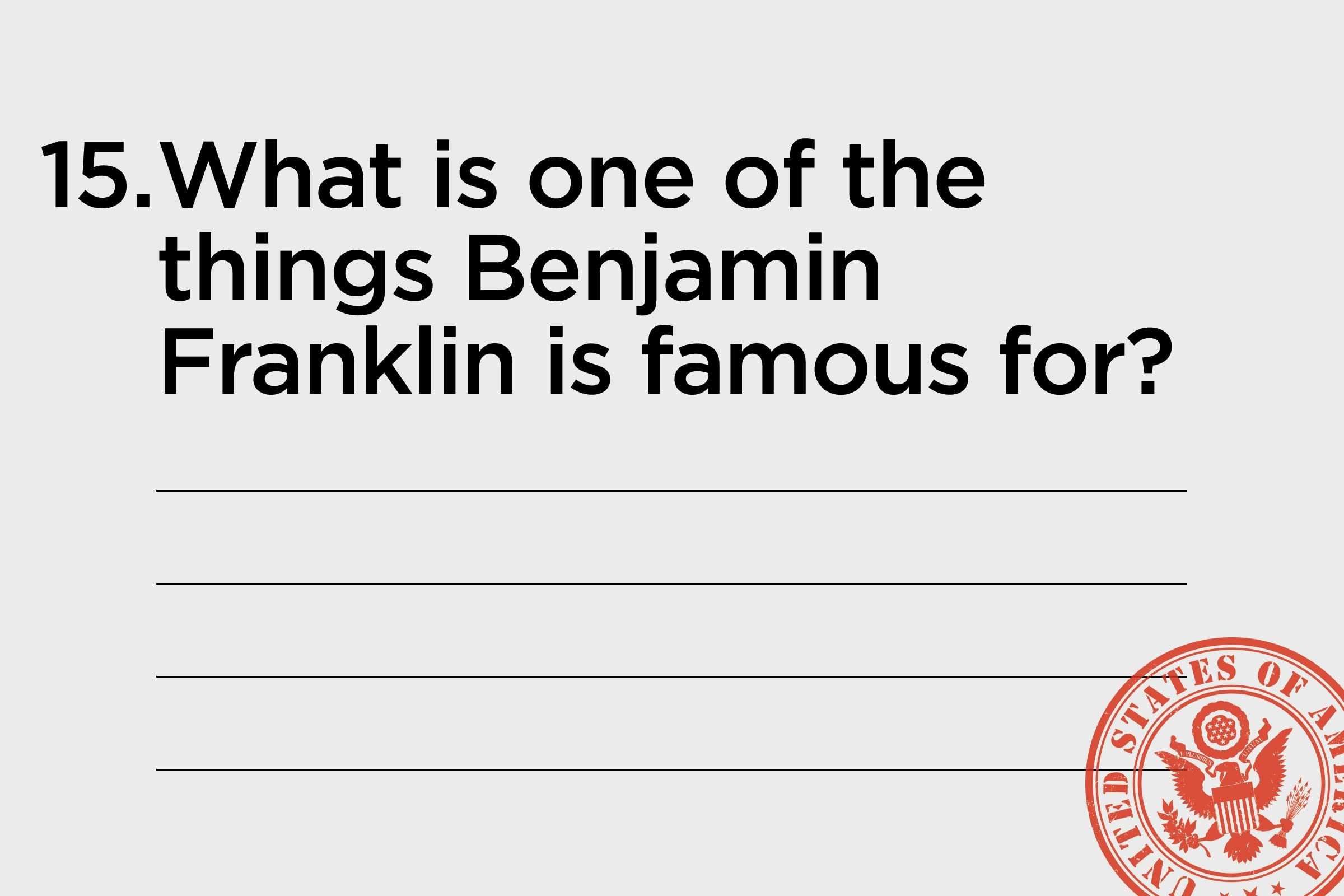 ben franklin is famous for